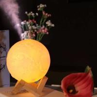2in1 Lampu Hias Dekorasi Kamar Tidur 3D Plus Pelembab Udara 800ml