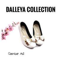 GURU - Dalleya sepatu pantofel wanita wedges hak tinggi simple polos