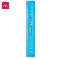 Deli E38014 Penggaris-Printed EcoPVC Flexible Ruler 20cm -Blue
