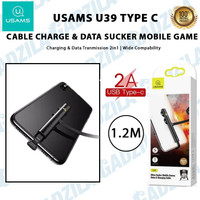 USAMS U39 TYPE C USB SUCKER MOBILE GAMES CABLE KABEL CHARGER GAMING