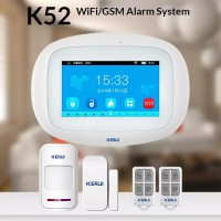 WIFI GSM Alarm Rumah KERUI K52 Touchscreen Smart App system Android