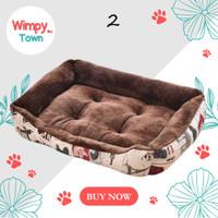 kasur anjing kasur kucing perlengkapan bantal anjing bantal kucing - Cokelat
