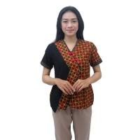 Batik Wanita Blouse Atasan Batik Dua Putri S-M-L-XL-XXL-3L-4L-5L