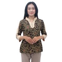 Batik Wanita Atasan Blouse Batik S-M-L-XL-XXL-3L-4L-5L lengan 7/8