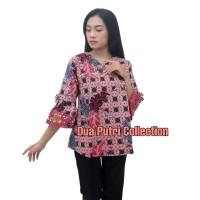 Batik Wanita Atasan Blouse Batik S-M-L-XL-XXL-3L-4L-5L TTEROMPET PINK
