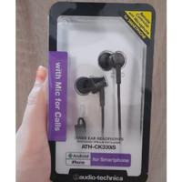 Audio Technica Earphones ATH-CK330iS BK (EX) w/Mic Original