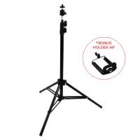 Stand Tripod Besi (BONUS Holder HP U) Stand Kamera HU-500 ST-15