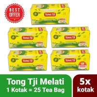 Paket Hemat Teh Tong Tji Jasmine Melati 5x Kotak isi 25 Tea Bag