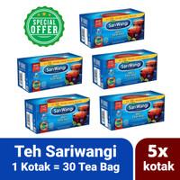 Paket Hemat Teh Sariwangi Asli 5x Kotak isi 30 Sachet Tea Bag Celup