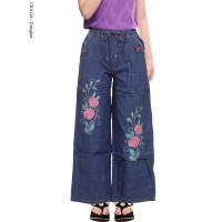 Celana Kulot Jeans Anak Motif Bordir