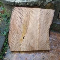 kayu jambu hutan Curly bahan coffee table 54x54x7cm