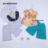 Setelan Intana Anak uk 1-2 Tahun / Atasan Cewek Rok Perempuan Baju - POLOS, Bawahan Kulot
