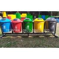 Tempat sampah pilah 5 warna