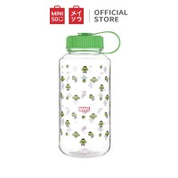 MINISO Botol Plastik Portabel 1150Ml, Spider Man/Iron Man
