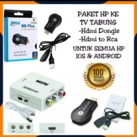 PAKET ANYCAST M9 PLUS + HDMI TO AV RCA KONVERTER DARI HP KE TV TABUNG