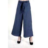 Celana Kulot Wanita / Orlin Navy Cullote Pants 43041T4NA - Bodytalk