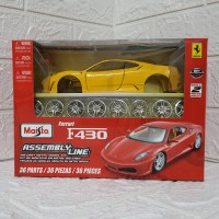 Diecast Maisto Kit Ferrari F430 Kuning Skala 1/24