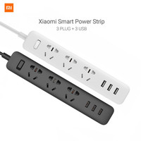 Xiaomi Mi Smart Power Strip Colokan Adaptor 3 USB Port 2A Stop Kontak - Hitam