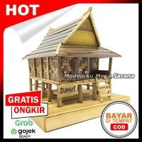 Miniatur Rumah Adat Simalungun Sumatera Utara Dari Bambu