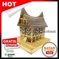 Miniatur Rumah Adat Batak Toba Dari Bambu