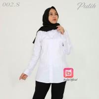 Kemeja Putih Polos Lengan Panjang Wanita