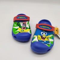 Sale Stok Sendal Anak Crocs Spongebob Clog Blue - 30