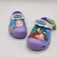 Sale Stok Sendal Anak Crocs Marsha And The Bear Purple
