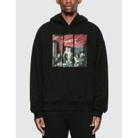Off White FW20 Caravaggio Painting Over Hoodie Black 100% Authentic