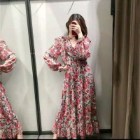 [IMPORT] DRESS MAXI FLORAL RED ROSE