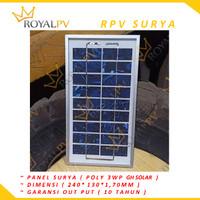 Panel surya 3wp solar panel 3wp soal cell 3wp gh solar