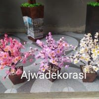 sakura artificial- Sakura plastik- Hiasan sakura- bunga sakura- bunga