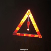 Warning Sign Reflective Triangle Exclamation Mark Emergency Portable