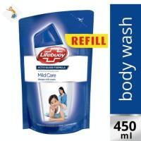Lifebuoy Body Wash Mild Care Refill 450ml - Sabun Mandi Cair