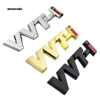 Stiker Emblem Motif Tun vvti Logo Bahan Metal untuk Dekorasi Toyota
