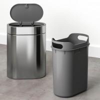 IKEA BROGRUND Tempat sampah sentuh tutup, baja tahan karat
