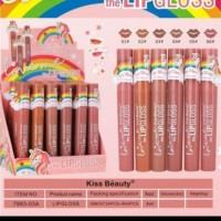 6 pcs)Kiss beauty Unicron love lip gloss