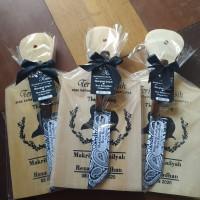 sovenir souvenir pernikahan talenan lengkap set pisau unik menarik