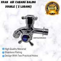 KRAN AIR CABANG BALING 2 LUBANG / KERAN AIR DOUBLE STAINLESS