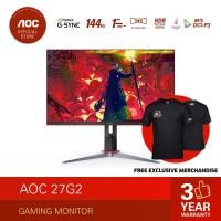 AOC 27G2 G-Sync Gaming Monitor (27/FHD/IPS/144Hz/1ms)