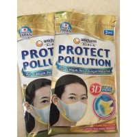 MADE IN JAPAN Masker Unicharm Protect Pollution 3D Mask - isi 2 pcs.