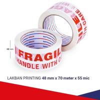 Lakban printing FRAGILE 48 mm x 80 yard Mitran Pack