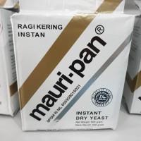 Mauripan instant dry yeast 500 gram ragi pengembang roti donut donat