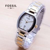 jam tangan wanita oval segi rantai tanggal dropship
