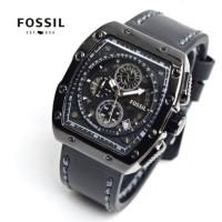 jam tangan pria kulit chrono black tali hitam coklat dropship
