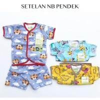 Velvet Junior Motif Terbaru Kancing Tengah + Celana Pendek - 3pcs