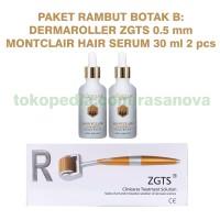 Paket Rambut Botak B Montclair Hair Serum Dermaroller ZGTS 0.5 mm