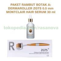 Paket Rambut Botak A Montclair Hair Serum Dermaroller ZGTS 0.5 mm