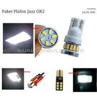 Paket isi 4 Lampu LED Plafon Kabin Honda Jazz GK5 Super Bright Mobil
