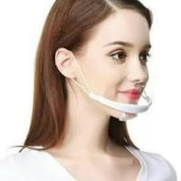 MASKER Penutup mulut Plastik transparan bening