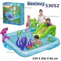 Kolam Renang Anak Bestway 53052 Perosotan Fantastic Aquarium Play Pool